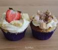Aardbeien Crumble Cupcake en Tiramisu Cupcake