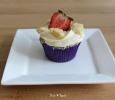 Aardbeien Crumble Cupcake